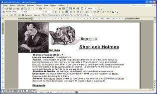 Biographie Sherlock Holmes