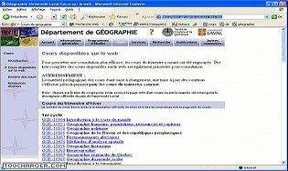 Cours de géographie de l'Université Laval.