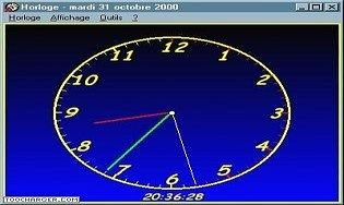 gratuit horloge bureau parlante pour xp
