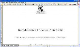 Introduction à l'analyse numérique