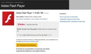 adobe flash player 20 t l charger gratuitement la derni re version. Black Bedroom Furniture Sets. Home Design Ideas