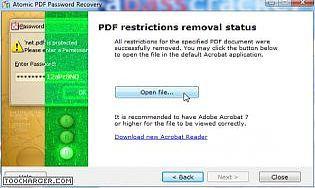 Atomic PDF Password Recovery