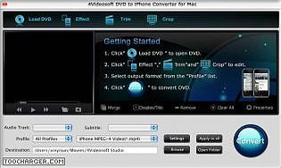 4Videosoft DVD iPhone Convertisseur pour Mac