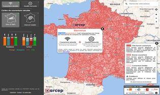 Carte de la couverture réseau mobile