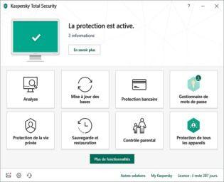 Kaspersky Total Security 2019 Bêta Sécurité & Vie privée