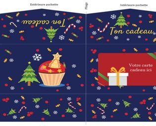 Pochette carte cadeau de Noël imprimable Maison et Loisirs