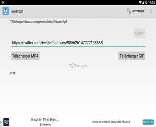 Tweet2Gif Android Multimédia