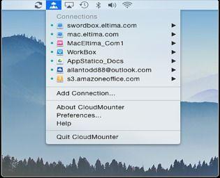 CloudMounter for Mac 1.0 Programmation