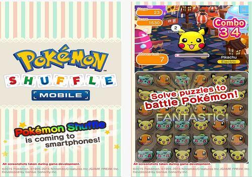 Pokemon Shuffle pour iPhone Jeux