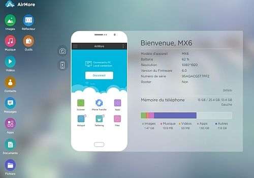 AirMore-Transfert des fichiers iOS Utilitaires