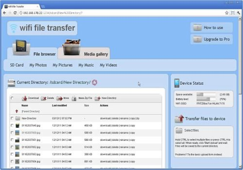 WiFi File Transfer Android Utilitaires