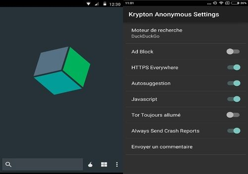 Krypton Anonymous Browser Android Internet