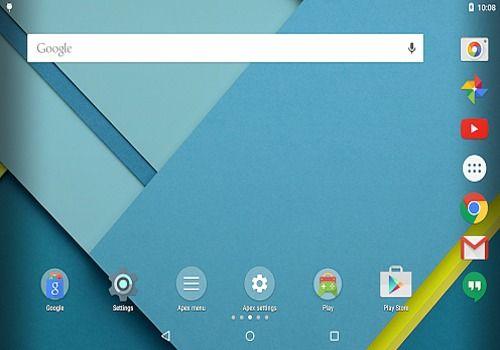 Apex Launcher Android Personnalisation de l'ordinateur