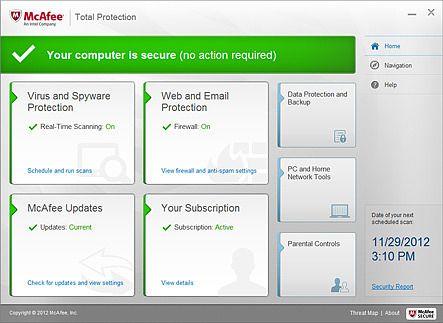 McAfee Total Protection Sécurité & Vie privée
