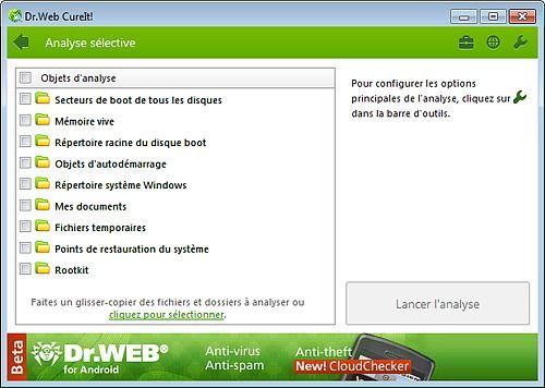 Dr.Web CureIT! Sécurité & Vie privée
