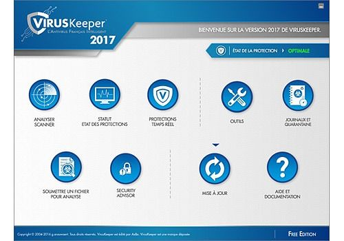 VirusKeeper 2017 Free Edition Sécurité & Vie privée