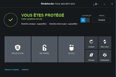 Bitdefender Total Security 2019 Sécurité & Vie privée