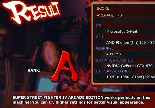 Street Fighter IV – Benchmark Jeux