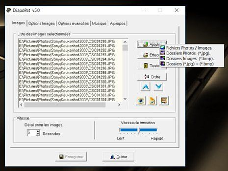 DiapoPat v5.0 Personnalisation de l'ordinateur