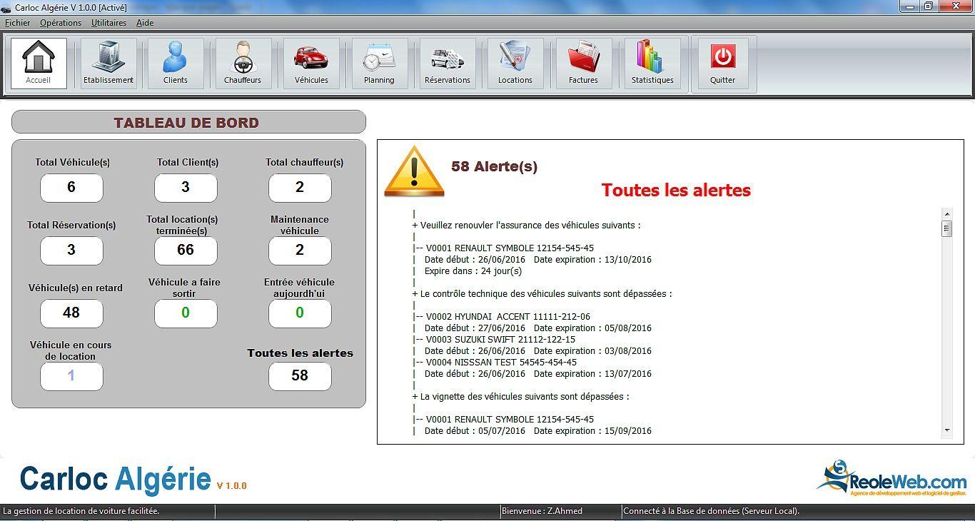 Carloc Europe-Maghreb V2.6 - Logiciel location de véhicules Finances & Entreprise