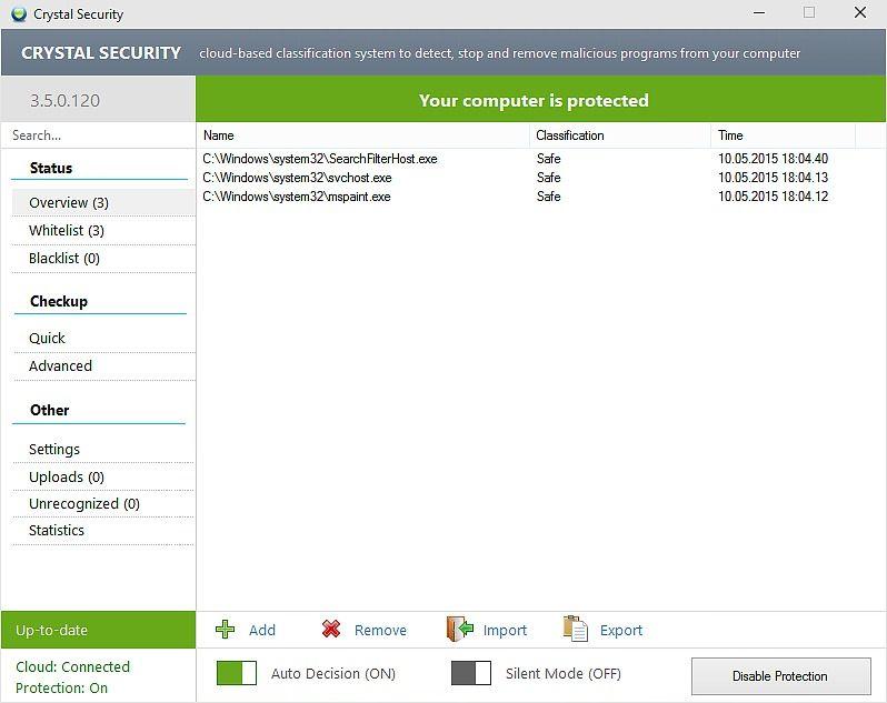Crystal Security Sécurité & Vie privée