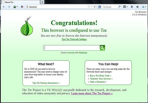 Tor Browser (Vidalia Bundle) Sécurité & Vie privée