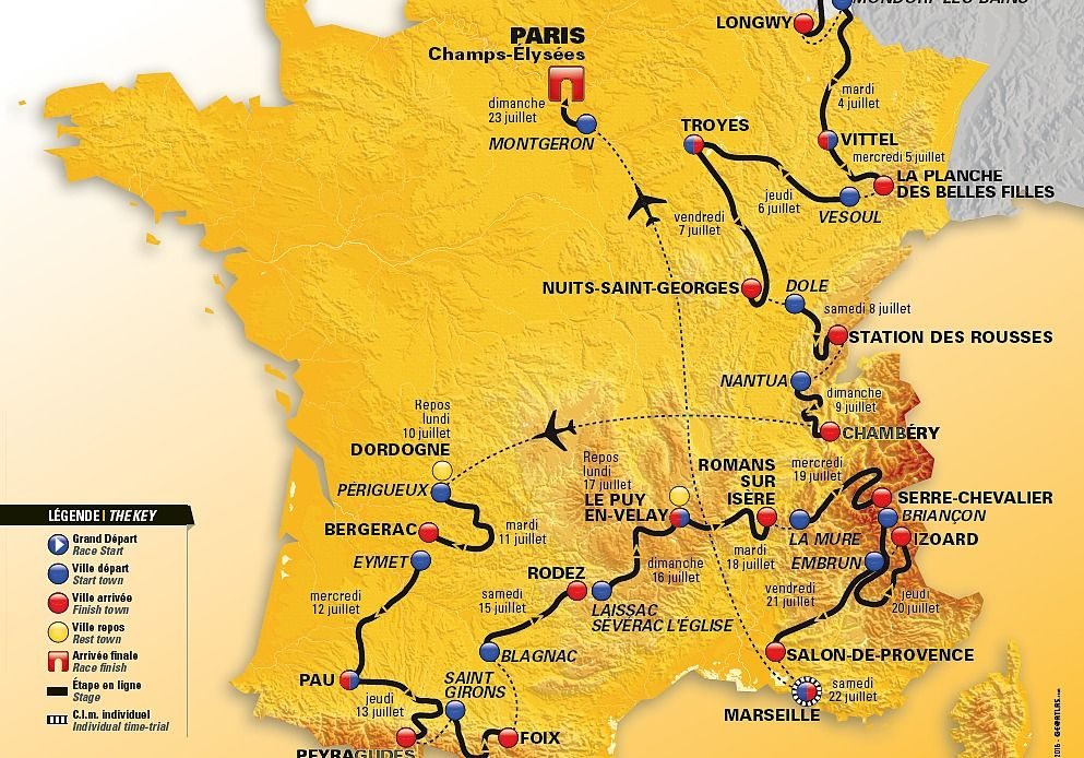 Carte du tour de France 2017 Maison et Loisirs