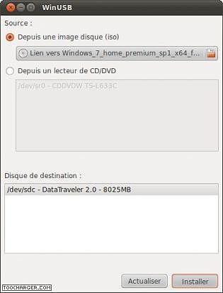WinUSB pour Windows Utilitaires