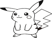 Coloriage Pokemon-Pikachu Dessins & Arts divers