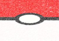 Pokeball effet crayon