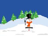 Joyeux Noël: Bonhomme de Neige Fonds d'écran