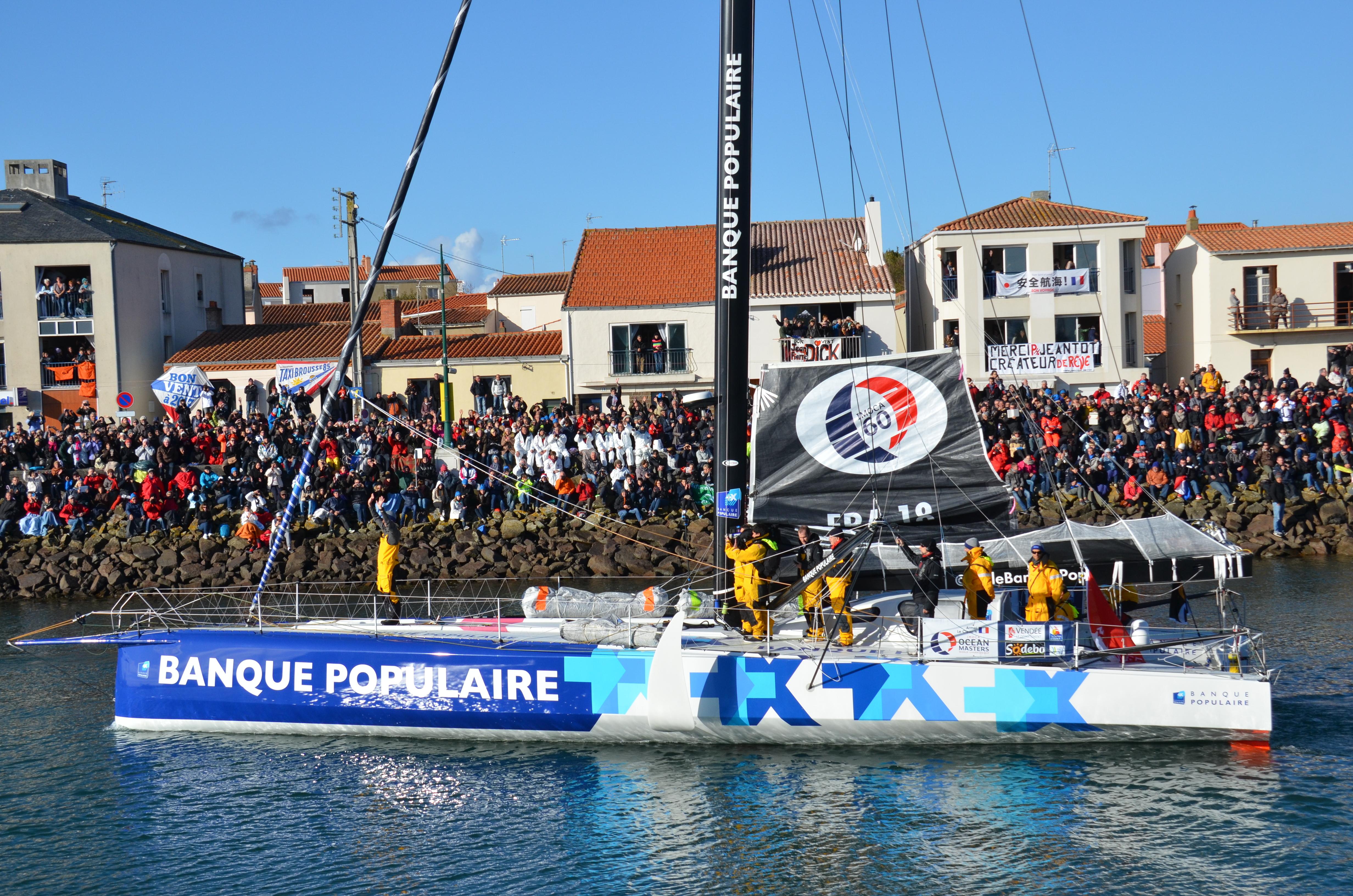Vendée Globe 2016 - départ d'Armel Le Cléac'h Photos