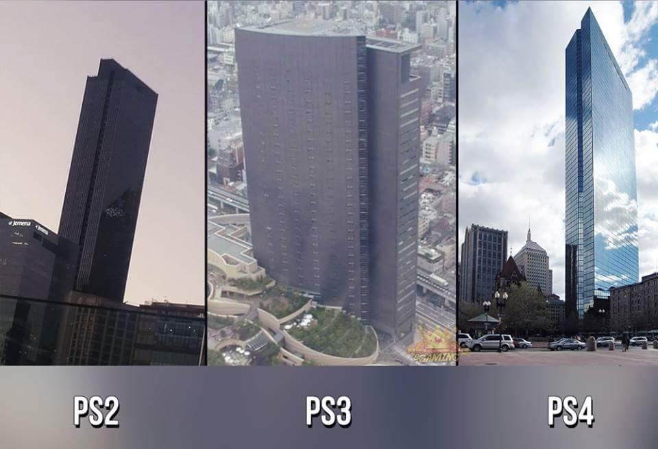 Bâtiments à l'effigie des consoles Sony Photos
