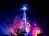 Nouvel an sous la Tour Eiffel Fonds d'écran
