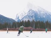 Hockey sur glace en extérieur Photos