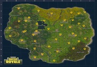 Fortnite Battle Royale - Carte des distributeurs automatiques