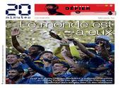 La Une du 20 Minutes au lendemain de la victoire des Bleus à la Coupe du Monde 2018