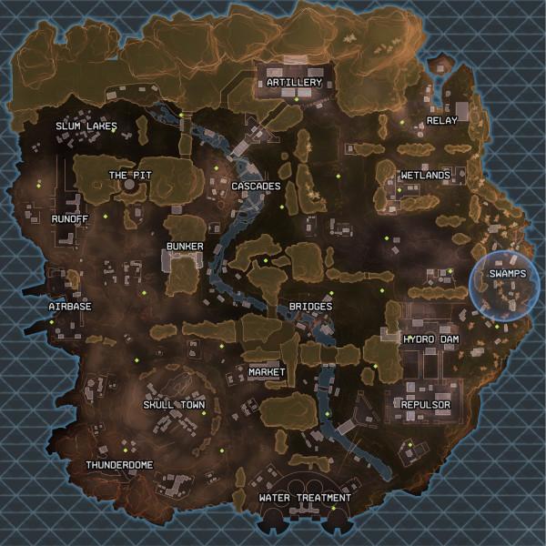 Apex Legends King's Canyon map Dessins & Arts divers