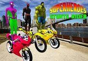 Superhéros des cascades de vélo Jeux