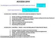 Cours Bardon - Access 2010 Informatique