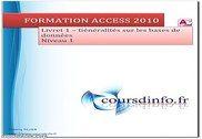 Access 2010 Informatique