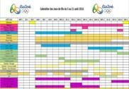 Calendrier des JO de Rio 2016 Bureautique
