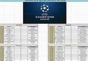 Calendrier de la Ligue des Champions 2017-2018 Bureautique