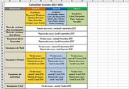 Calendrier vacances scolaires 2017-2018 Bureautique