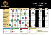 Calendrier de la Copa America 2016 Bureautique