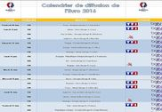 Calendrier de diffusion de l'Euro 2016 Bureautique