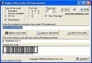Bar code 2 of 5 interleaved Bureautique