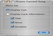 ITunes Current Song Menu Multimédia
