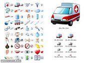 Medical Icon Set Personnalisation de l'ordinateur