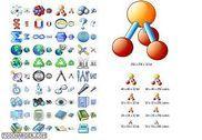 Science Icon Set Personnalisation de l'ordinateur